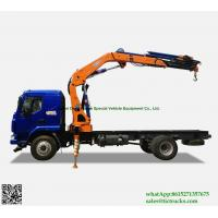Buy cheap Custermizing Truck loading crane 8 ton at 2m, truck mounted crane, SQ160ZB4, best knuckle boom    WhatsApp:8615271357675 from wholesalers