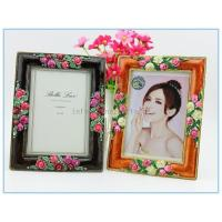 Wholesale Shinny Gifts Alloy handmade enamel photo frame for travel gifts from china suppliers