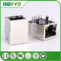 Wholesale Shielded 1000BASE RJ45 Modular Jack female Single Port W/Led Tab Down from china suppliers