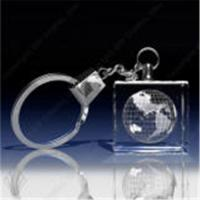 China 3D laser crystal keychain on sale