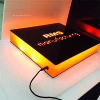 Wholesale Professional hot sale acrylic tabletop led light sign display from china suppliers