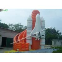 Wholesale Lead Free PVC Tarpaulin Commercial Inflatable Slides , Outdoor Inflatable Rocket Slide from china suppliers