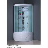 Wholesale 900mm quadrant shower enclosure white painted chrome Color with top light from china suppliers