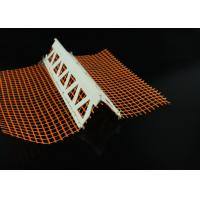 Wholesale Customized Plastic Profiles Vinyl Corner Bead With Mesh 23MM X 23MM from china suppliers