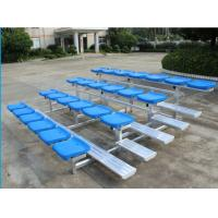 Wholesale 4 Row Lightweight Aluminum Bleacher Seats Space Saving Quick Assembly from china suppliers