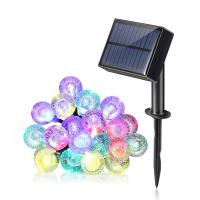 Wholesale Multicolor Water Drop 30 Led Outdoor Solar String Lights For Garden / Patio / Home And Holiday Decorations from china suppliers