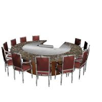 Wholesale 12 Seats Stainless Steel Circle Shape Circle Shape Japanese Teppanyaki Table from china suppliers