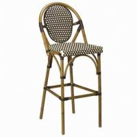 Wholesale Aluminum bar chair, outdoor/hotel/restaurant/club use, wicker rattan woven, UV-resistant from china suppliers