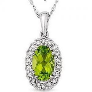 Wholesale Peridot  & Diamond Pendant from china suppliers