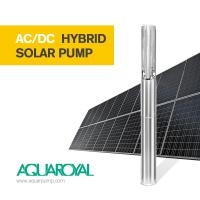 Wholesale HYBRID SOLAR PUMP 4SP14/4 | MAX FLOW 24.6M3 | MAX HEAD 50M | AUTO AC/DC from china suppliers