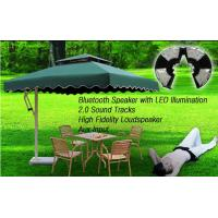 Buy cheap umbrella 8LED flash light with bluetooth speaker for outdoor garden light camping light from wholesalers