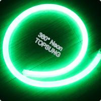 Wholesale DC24v 360 degree emitting led neon flexible strip 16mm diameter green from china suppliers