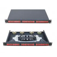 Quality 19 inch  Rack-mount ODF Fiber Optic Patch Panel fixed type 12-144 ports FC,SC,LC,ST adapter for sale