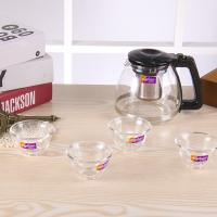 Wholesale Heat Resitance Clear Glass Kettle , Bpa Free Glass Water Pot With Tea Filter from china suppliers