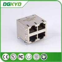 Wholesale DGKYD22Q077HWA4D RJ45 Multiple Port Connectors Stack MJ ASSY 8POS 2X2 CAT6 with magnetics from china suppliers