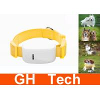 Wholesale Mini Yellow Pet GPS Tracker , Waterproof Quad Band GPS Dog Tracker Collar from china suppliers