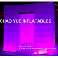 Wholesale Outdoor Portable 13' Inflatable Photo Booth With LED Light , Double - Deck PVC Bag Package from china suppliers