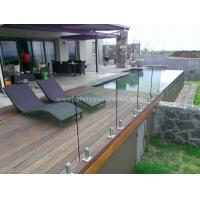Wholesale External Balustrade Glass Handrails For Stairs , Flat / Curved Glass 15mm from china suppliers