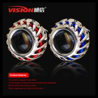 Quality China Factory fashion style car accessories 2.5 inch 35W hid bi xenon projector lens with double angel eyes for sale