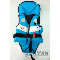 Wholesale Navy Blue White Color 210D/420D Nylon Fashion Leisure Life Jacket Child buoyancy float from china suppliers