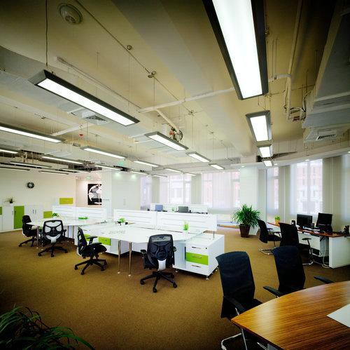 Aluminum Office Lighting Fixture , 140watt T5 Fluorescent
