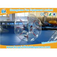 Wholesale Red String TPU Human Sized Bubble Ball Inflatable Football Games For Adult For Kids from china suppliers