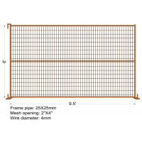 "Wholesale 6FT X 9.5FT ""VICORIA SECRET"" TEMPORARY FENCE Mesh 2""x4"" Diameter 3.00mm/3.5mm/4.00mm from china suppliers"