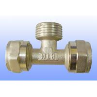 Wholesale compression brass fitting male tee for PEX-AL-PEX from china suppliers