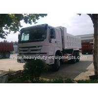Wholesale HOWO Over Vehicle heavy duty dump truck with Ventral lifting and 3 seats with sleeper  A / C from china suppliers