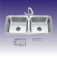 Wholesale Polished 2 Bowl Stainless Steel Kitchen Sinks , Custom Design 440 X 400mm from china suppliers