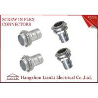 Wholesale 3/4 inch 1 inch Flexible Conduit Fittings Outlet Box Screw Connector with Locknut from china suppliers