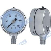 Wholesale Shockproof 304 stainless steel pressure gauge , sealing , glycerin 2.5 Inch bottom from china suppliers