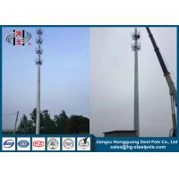 Wholesale Antenna Telecommunication Towers , Monopole Antenna Tower With Platforms from china suppliers