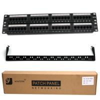 Wholesale 24 Port Cat 5e / Cat6 Unshielded Patch Panel Fluke Test UTP With Back Bar from china suppliers