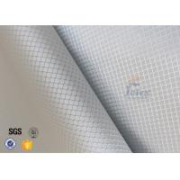 Wholesale Checked Silver Coated Fabric Aluminized Fiberglass Cloth For Decoration from china suppliers