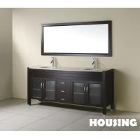 Wholesale Custom Modern Bathroom Cabinets Vanities , Ceramic Basin from china suppliers