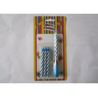 Wholesale Blue Striped Birthday Musical Candle Singing Song For Christmas Party Decorations from china suppliers