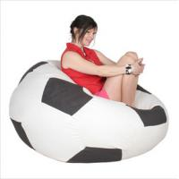 Wholesale Indoor Red Foam Bean Bag Chairs , Lazy Sofa With Styrofoam Particles from china suppliers