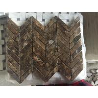 Wholesale Emperador Dark Marble Mosaic Tiles Wall Mosaic Design Dark Emperador Marble Polished Kitchen Backsplash Mosaic Tiles from china suppliers