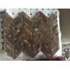 Buy cheap Emperador Dark Marble Mosaic Tiles Wall Mosaic Design Dark Emperador Marble Polished Kitchen Backsplash Mosaic Tiles from wholesalers