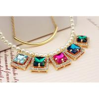 Wholesale fashion pendant necklace with pearl chain from china suppliers