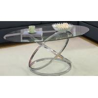 Wholesale Home Modern Glass Bar Table , Glass Metal Round Extending Dining Table from china suppliers