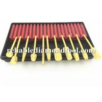 Wholesale Gold Plated Dental High Speed Steel Drill Bits 10 PCS / Set  2.34 mm Shank from china suppliers