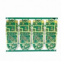 Quality 6-layer HDI PCB with Mobile Phone Motherboard, Immersion Gold Surface and Green Solder Mask for sale