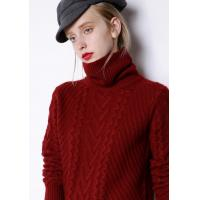 China Panel Style Womens Knit Sweater Cashmere Spandex Material Premium Quality on sale