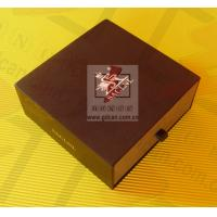 Wholesale Personalized Kraft Paper Gift Box Lightweight Black With Ribbon from china suppliers