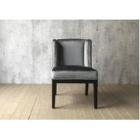 Wholesale Grey Velvet Fabric Hotel Dining Chairs Indoor , French Style Dining Chairs from china suppliers