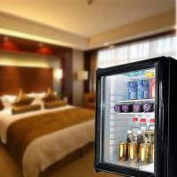 Wholesale 60L absorption upright glass door deforest minibar from china suppliers