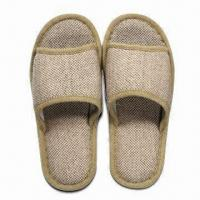 Wholesale Men's Slippers, Made of Flax, Customized Designs and Sizes are Accepted from china suppliers