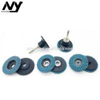 Quality Blue 4 Inch Mini Flap Disc , 180 Grit Grit Flap Wheel Round Shape Rust Removing for sale